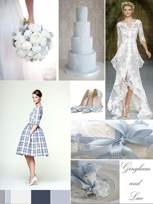 Wedding Mood Board: Gingham and Lace