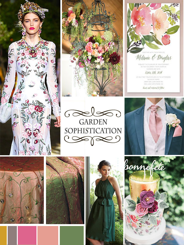 Wedding Mood Board: Garden Sophistication