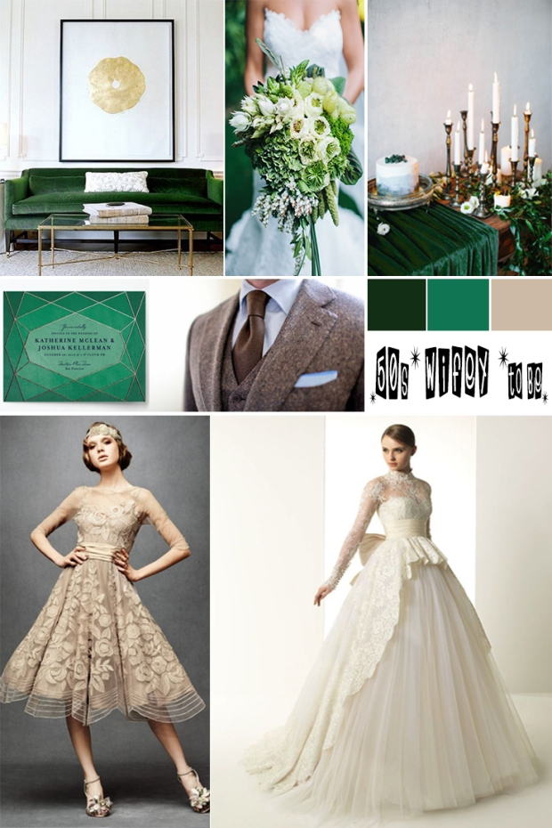 Wedding Mood Board: 50s wifey to be. Atlanta event planner. injinnyous.com