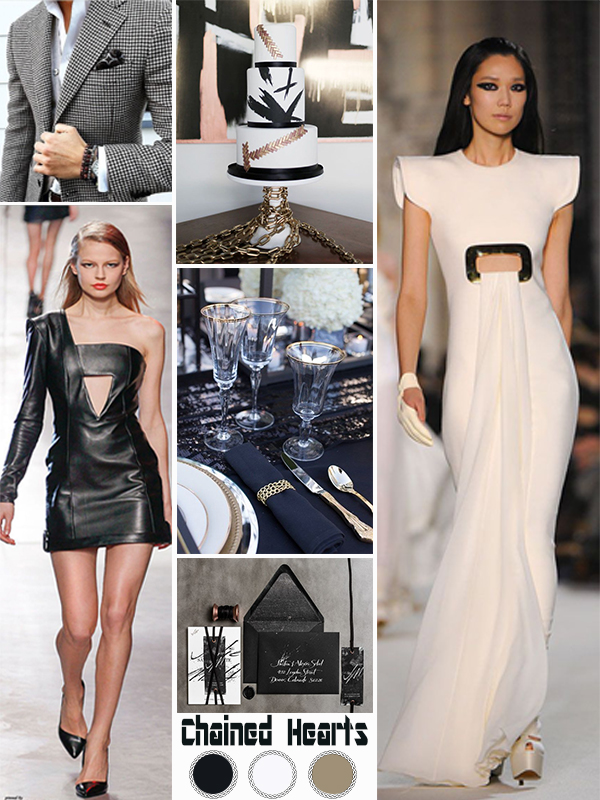 Wedding Mood Board: Chained Hearts - Rocker bride