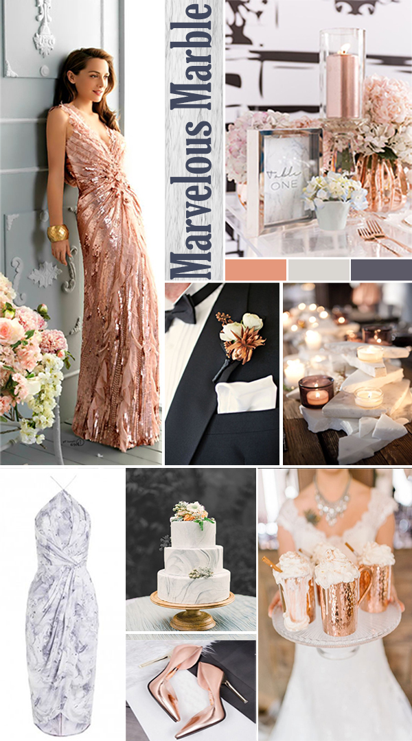 Wedding Mood Board Marvelous Marbles