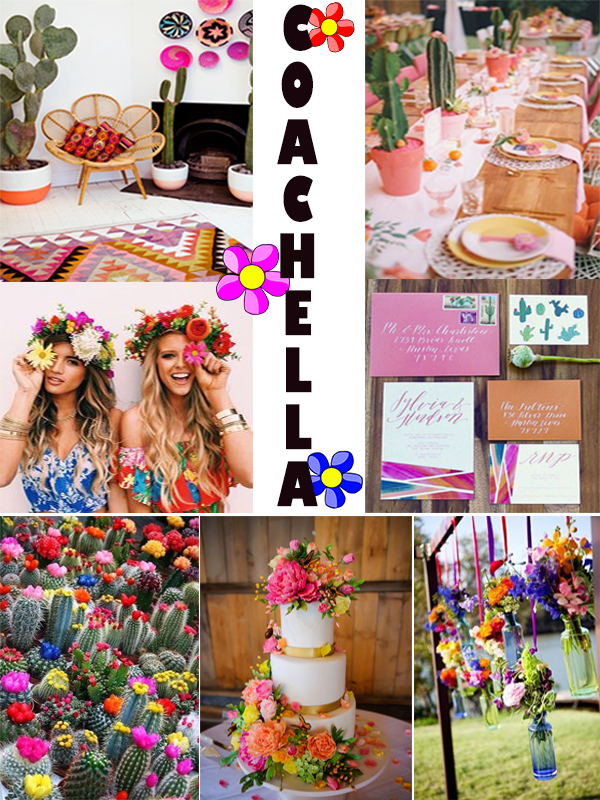 Mood Board Themed Party: Coachella Inspired Sweet 16 injinnyous,com