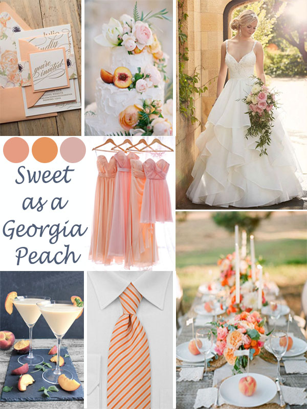 Wedding Mood board: Sweet as a Georgia Peach
