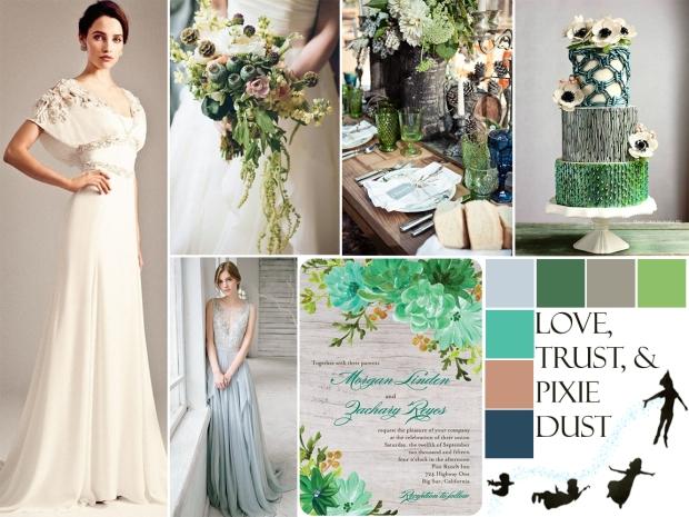 Disney Fairytale Wedding. Peter Pan inspired wedding by Atlanta event planner Injinnyous