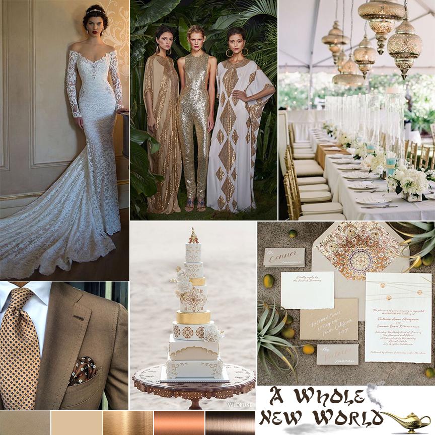 Disney Fairytale Wedding. Aladdin inspired wedding by Atlanta event planner Injinnyous Moroccan Wedding Arabian Nights Wedding